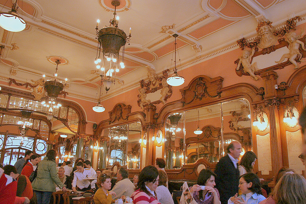 Interior of Café Majestic, Porto